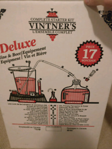 Wine and Beer Brewing Kit with Bottles