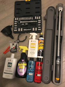 Torque wrench plus tools and car stuff
