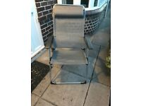 Camping chairs x 3 lafuma recliners