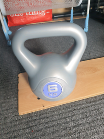 Kettlebell 6kg, home gym fitness weight training, Excellent Condition