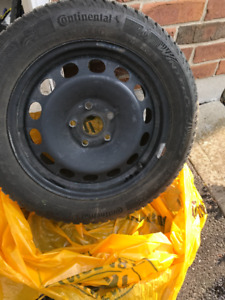 "Volkswagen Jetta 4x16"" Winter Tires! Used only 1 Season !"