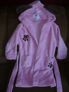 Girls size 4/5 pink puppy housecoat