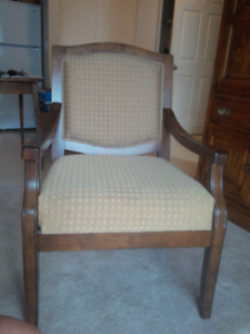 Upholstered Wood Armchair