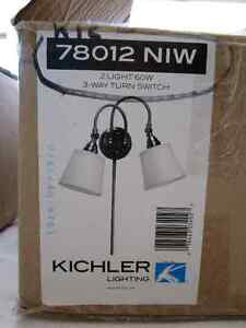 Kichler wall Lamps-brushed nickel- new in box!