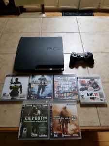 Mint Ps3 with controller and games