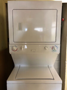Yr old Frigidaire stackable washer dryer with warranty for sale