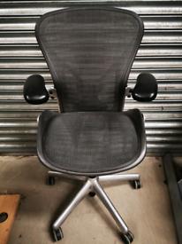 Herman Miller Aeron Posturefit chrome