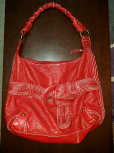Leather red purse