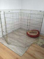 Cage pour chien de type enclos