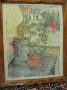 Large Canadian still life in watercolour