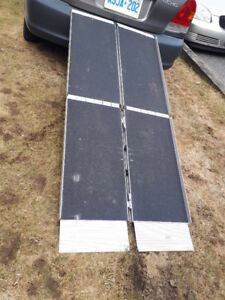 Folding Aluminum Ramp (used for scooter)