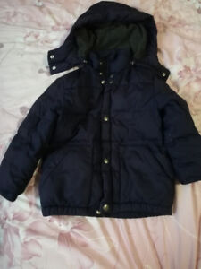 Kids coat car seat and boots