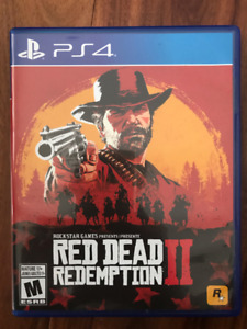 RED DEAD 2 FOR PS4 - LIKE NEW