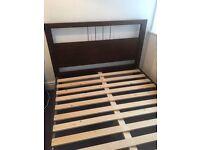 MFI Java Dark Wood Bed Frame (Double)