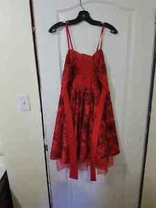 Red dress with black flowers Belleville Belleville Area image 2