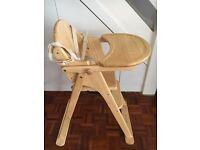 Mothercare wooden Valencia high chair