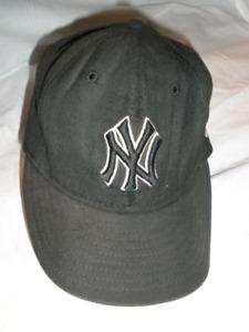 NY - Black Baseball Cap - Medium - $15.00