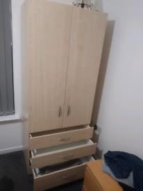2 door 3 drawer wardrobe New unopened
