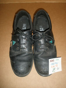 Men's STEEL-TOE Black Shoes, Size 13