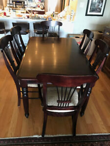 DINING ROOM TABLE  and 6 CHAIRS - MADE IN CANADA