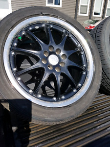 4 rims with 215/45/17 multi 4 bolt