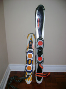 snowblades with bindings for kids and adults