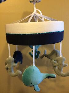 Nautical theme crib mobile