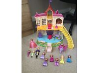 Sofia the first castle and characters play set