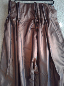 Brown Satin Curtan