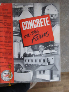 Concrete on the Farm by Canada Cement Company Limited