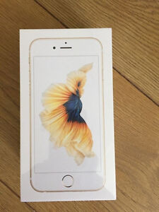 Sealed iPhone 6S 128GB Gold Rogers Fido Apple 1 year Warranty
