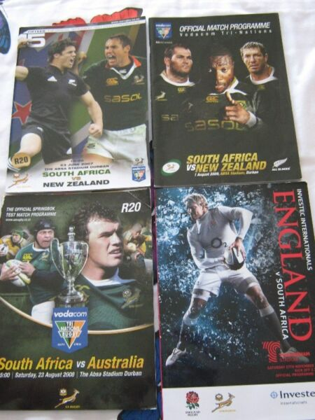 Rugby test programmes. Test Matches