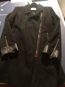 BRAND NEW - Black Wool Coat - size XL