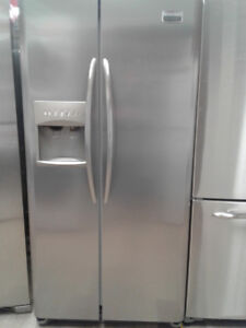 """FRIDGE FRIGIDAIRE 33"""" SIDE BY SIDE STAINLESS"""