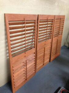 3 Louvre Solid Wood Adjustable Window Blinds