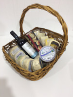 Christmas Cheese and wine Baskets