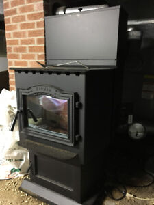 Harman p61A pellet stove with hopper extension - used one year