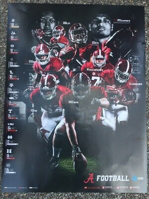 2017 Alabama Crimson Tide Football Schedule Poster Jalen Hurts  Scarborough    6