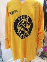 Men's XL yellow Team Alberta Hockey Jersey