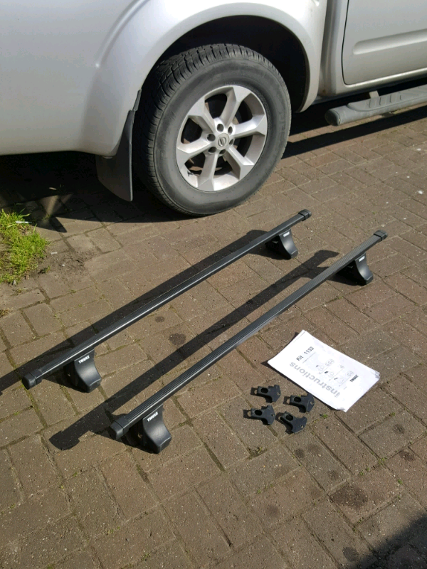 Thule Roof Bars 140cm Long With 1132 Foot Pack For Alfa Romeo 166