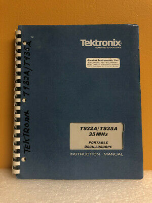 Tektronix 070-2492-00 T932at935a 35mhz Portable Oscilloscope Instruction Manual