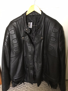 Large Leather Motorcycle Jacket $100 OBO