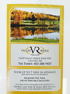 Golf at Valley Ridge with a Member golf pass @ 20% Off!!!