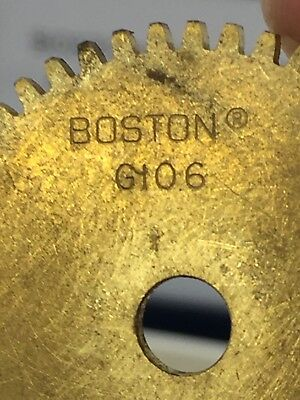 Boston Gear Brass G106 Spur Gear 32 Pitch 48 Teeth For Lathe Machine Clock Etc.