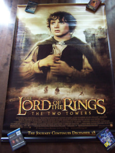 """LORD OF THE RINGS TWO TOWERS movie poster banner 48"""" by 72"""""""