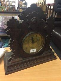 Gingerbread type mantle clock