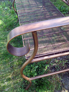 Brilliant Iron & Copper Ornate Garden Bench SEE VIDEO