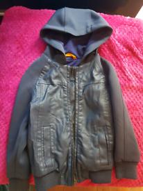 River Island leather jacket Boys age 3