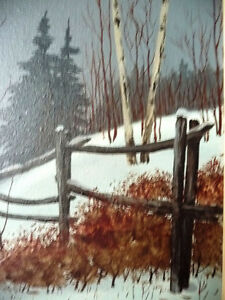 "Snowy Forest Landscape by Hilkka Pellikka ""The Evening Storm"" Stratford Kitchener Area image 5"