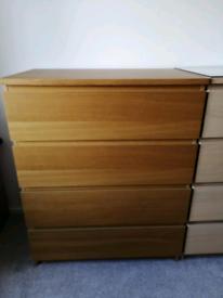 Ikea malm Oak chest drawers